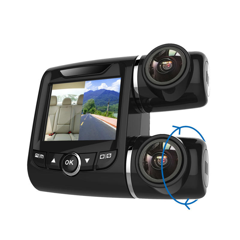 Super Capacitor WIFI Car DVR dual cam car camera L219