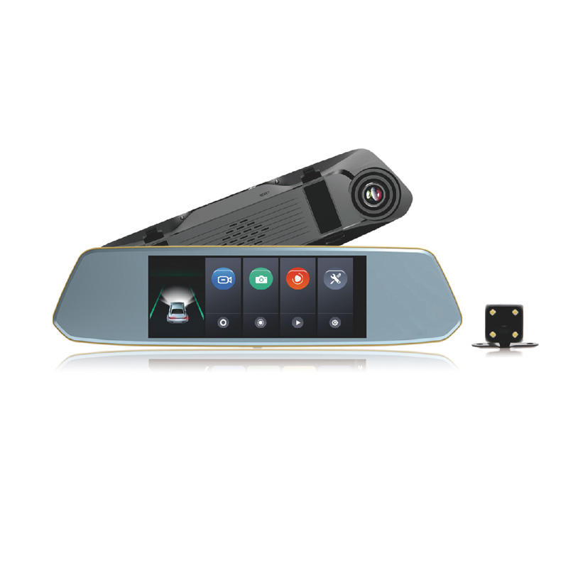 Touch Screen Car Camera Dual Channel Dash Cam T711