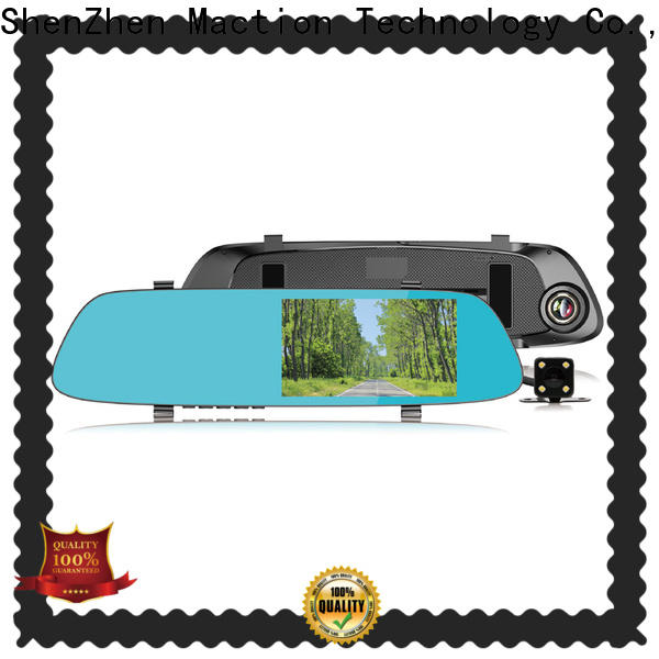 Maction camera rearview mirror dvr manufacturers for station