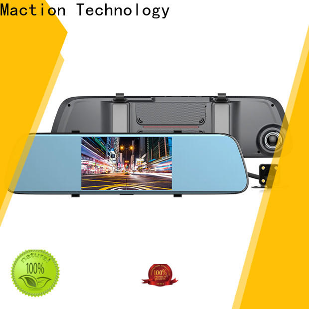 Maction touch rear view mirror dash cam Supply for street
