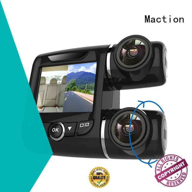 Maction channel dual dash cam manufacturer for car