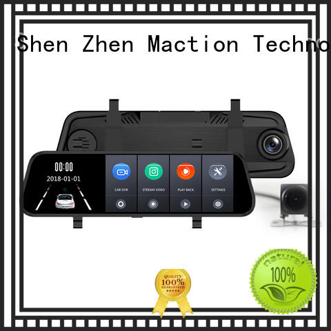 Maction lens rear view mirror dash cam manufacturer for street
