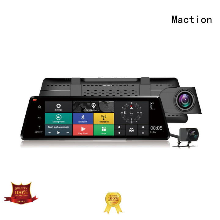 Maction car touch screen dash cam manufacturer for street