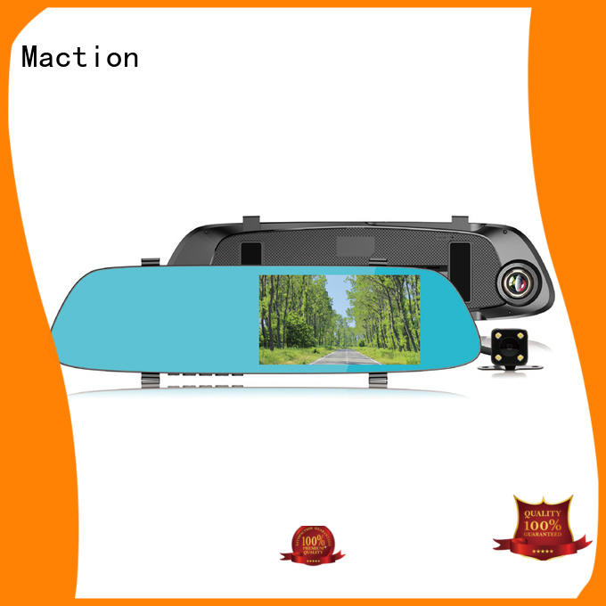Maction touch rearview mirror dvr combo for car