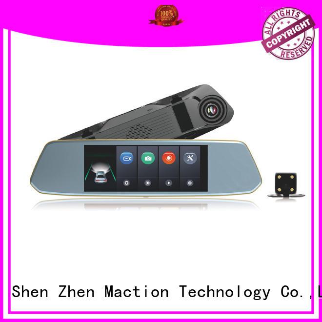 Maction design car mirror camera recorder combo street