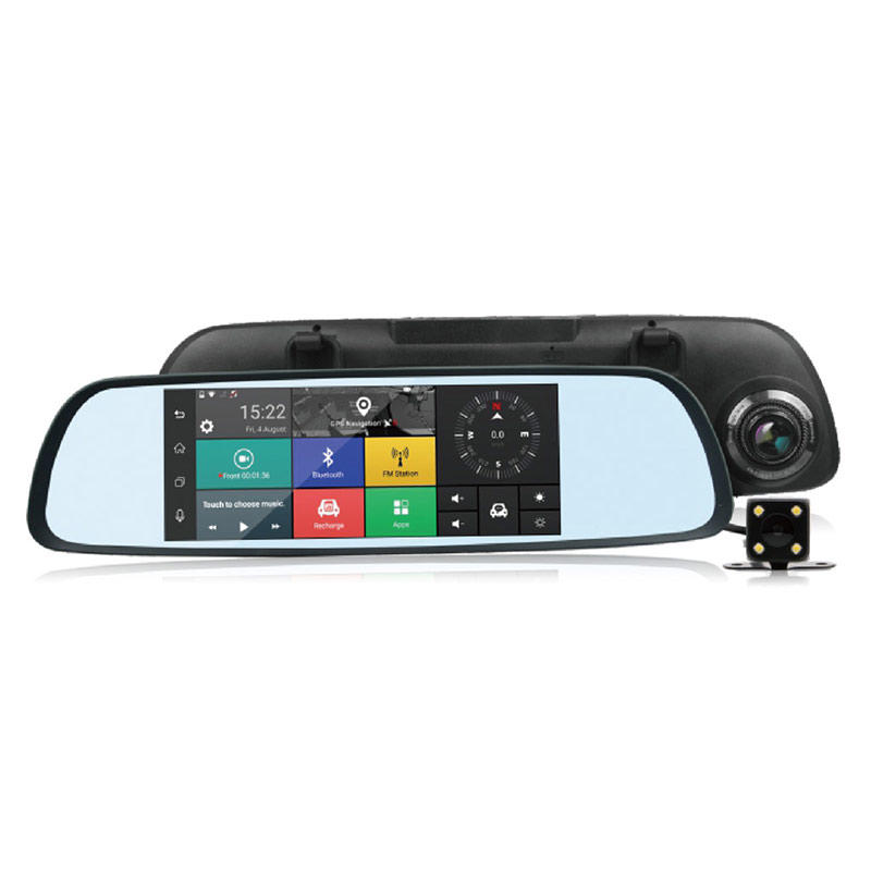 Android 5.1 GPS Navigation 3G  Mirror  Car DVR M710A