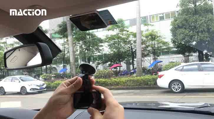 Installation guide for suck cup holder car dvr(M308)