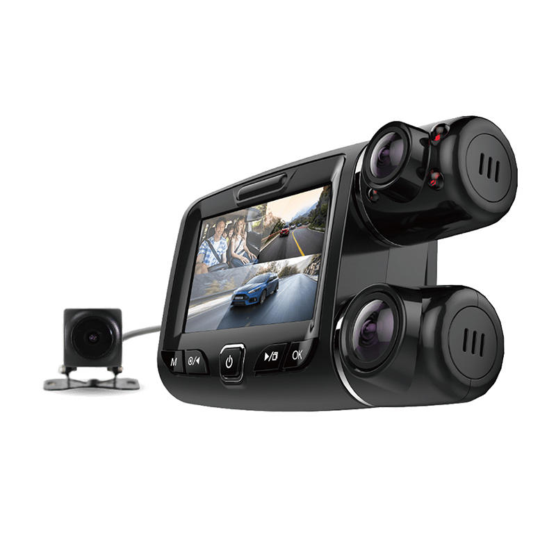 3 Channel car dvr with WIFI IR GPS function M239