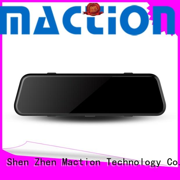 Maction lens rearview mirror dvr combo for station