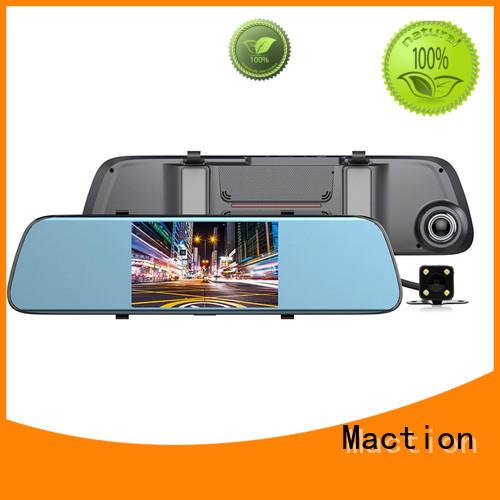 Maction mould rearview mirror dvr lens street