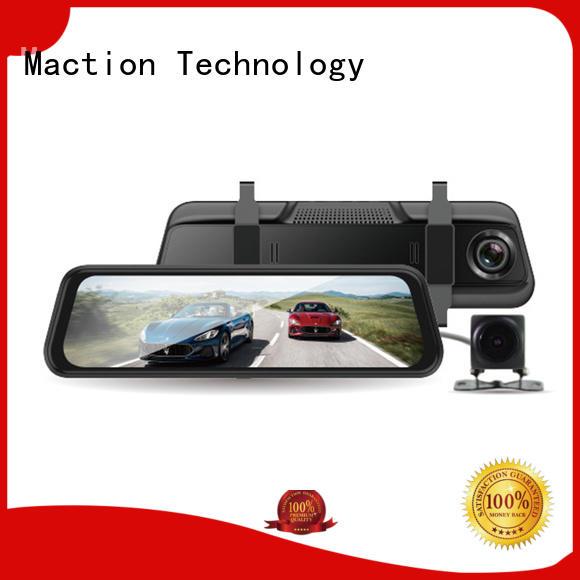 Maction design rear view dash cam recorder station