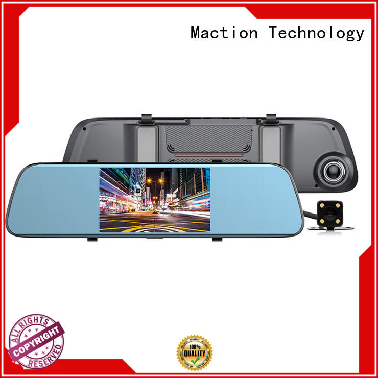 private rear view mirror dash cam lens combo for car