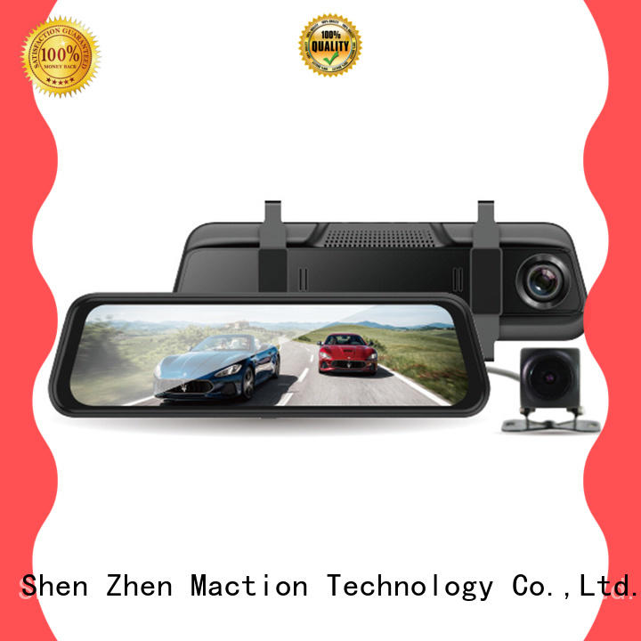 Maction full rear view mirror dash cam manufacturer for car