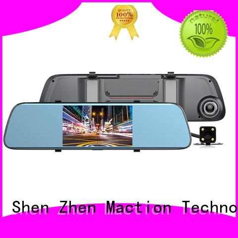 Maction lens rear view mirror dash cam combo for car