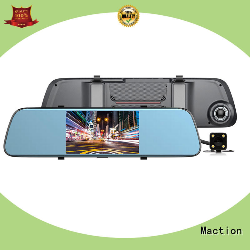 Maction mould backup camera mirror combo for street
