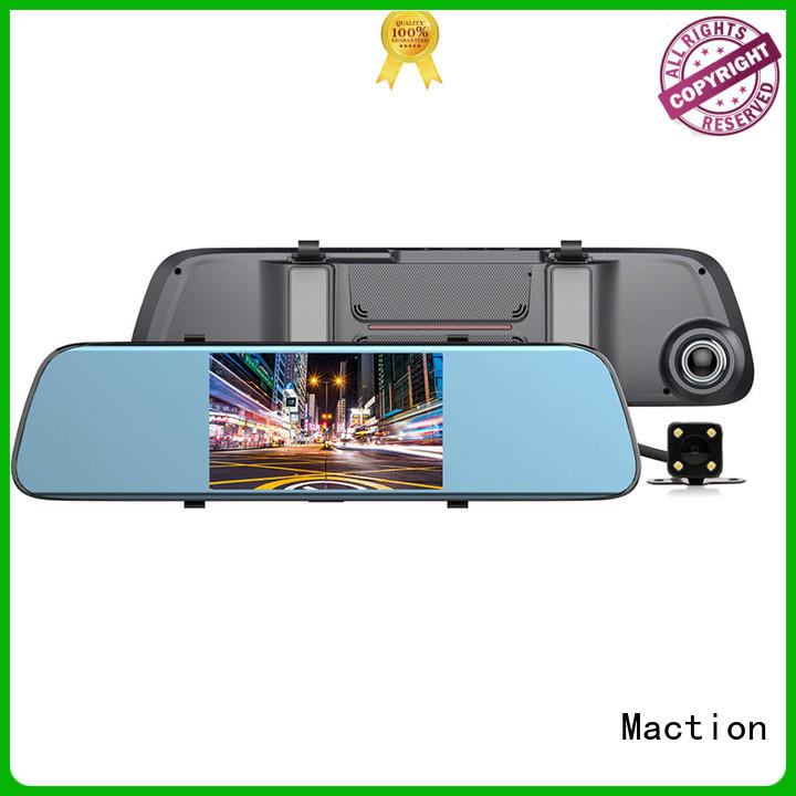 Maction dvr backup camera mirror combo for car